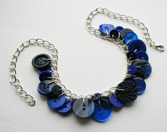 Button Necklace Kind Of Blue