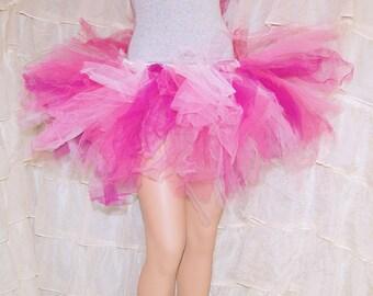 Ragged Marathon Runner Pink TuTu Skirt adult Small MTCoffinz - Ready to Ship