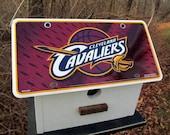 ON SALE Cleveland Cavaliers Vanity License Plate Birdhouse Baseball Fans Primitive Functional MLB LeBron James