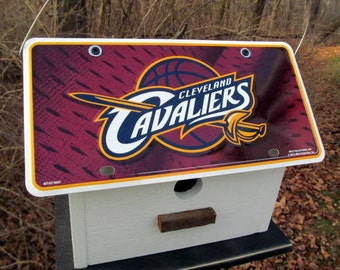 Cleveland Cavaliers Vanity License Plate Birdhouse Baseball Fans Primitive Functional MLB LeBron James