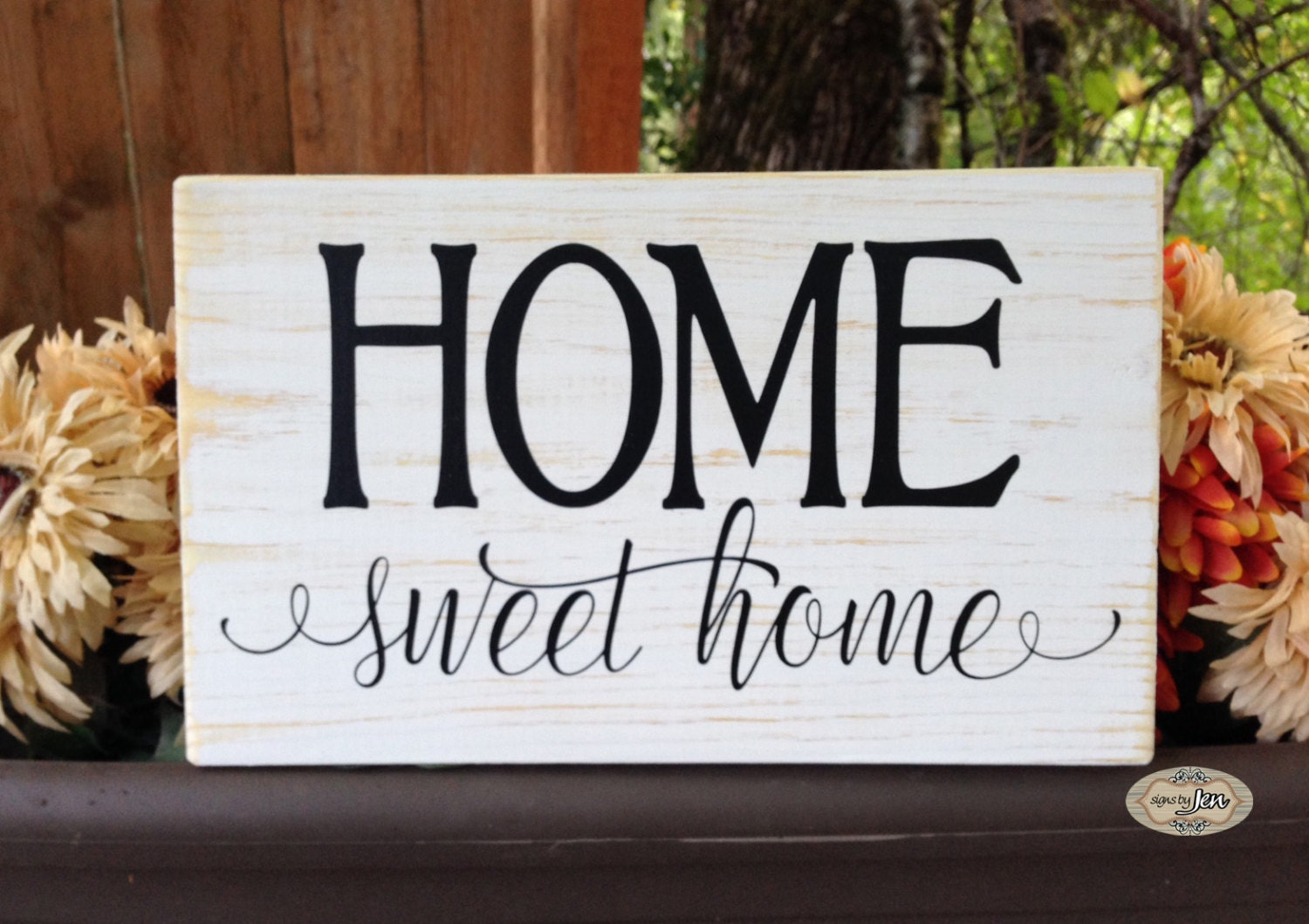Home sweet home sign home wood sign Style HM89 by SignsbyJen