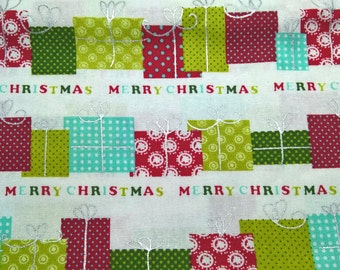 A Merry Christmas Gifts fat quarter cotton