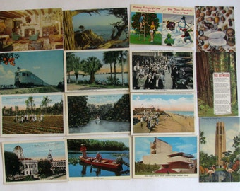 Vintage Perforated Postcards 191950's