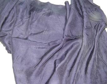 Vintage Navy Blue Rayon Faille Dark 1 Yard 12282