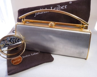 Primo shaped Vintage Judith Lieber Purse shell #9 (with dust bag, chain, and mirror with dust bag)