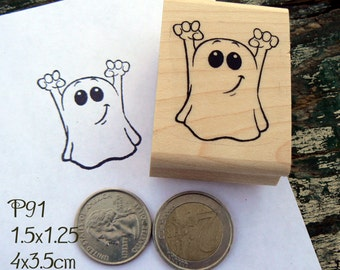 Small Ghost rubber stamp P91