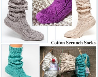 CUSTOM ONLY Cotton Scrunch Socks