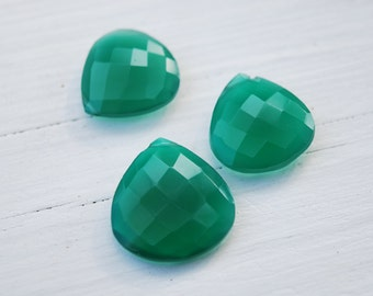 Destash- Jumbo Green onyx hearts