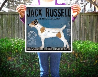 Jack Russell Records album artwork illustration signed artists print giclee by Stephen Fowler Pick A Size