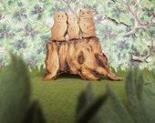 Wood Toy - Climbing Stump - Waldorf Heirloom Toy fun chunk of wood