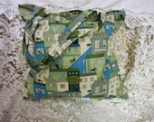 Reserved for LSP - Tote Bag- Messenger Bag -Shopping Bag - Black Cats on The Roof - Handmade