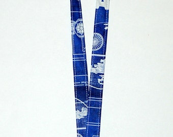 Lanyard - Handcrafted from Star Wars Blue Print Fabric (Ready To Ship)