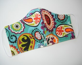 Fabric Surgical Face Mask in Cosmic Paisley