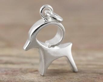 Capricorn zodiac pendant in sterling silver - Zodiac necklace, zodiac jewelry, astrology