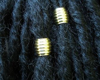 Dreadlock Accessories, Large Dreadlock Bead, Hair Beads, Brass Dreadlock Beads, Dreadlock Jewelry, Shine Large Brass Dreadlock Hair Bead Set