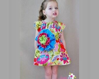 SALE Bohemia Flower Dress Sewing Pattern/Tutorial sizes 6m - 12 girls and doll PDF