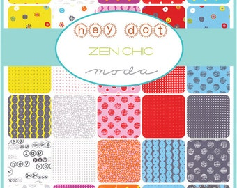 """SALE 40% Off SQ100 Moda HEY DOT Precut 5"""" Charm Pack Fabric Quilting Cotton Squares Zen Chic 1600PP"""