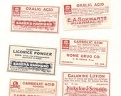 55 1930s plus Drugstore,Pharmacy ,Poison and Medicine Labels etc