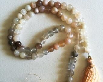 6mm Moonstone Round Beads - Full Strand