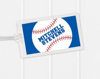 Baseball Bag Tag - Sports Bag Tag - Diaper Bag Tag - Kids Bag Tag Luggage Tag