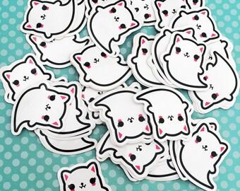 Ghost Cat Vinyl Sticker