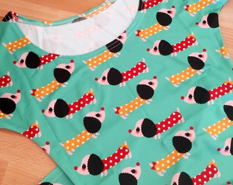 Wiener Dog Doxie Dachshund Skater Fit and Flare Dress - Size S-3X