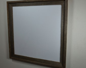 20x20 rustic picture frame with mat for 18x18, or custom mat prints or photos