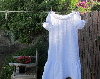 Toddler 2-4 Shabby Chic Prairie Nightgown White Cotton Lace Ready now!