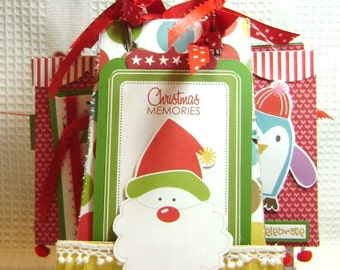 Christmas Scrapbook Album Memories by Kitsnbitscraps