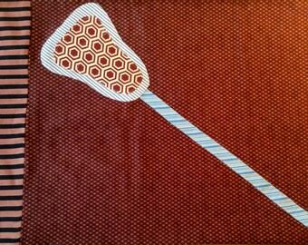 LACROSSE Pillowcase Mismatched Masterpiece Argyle Plaid Stripes Men's Lacrosse Boy's Lacrosse