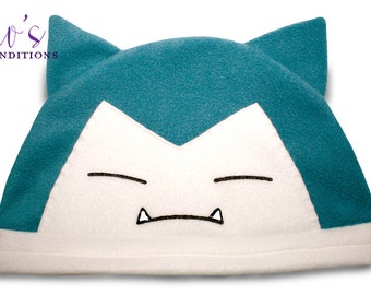 Pokemon Snorlax Hat / Fleece Hat / Winter Hat / Pokemon Hat / Pokemon Fleece Hat / Video Game Characters