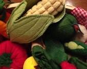 Felt Vegetable Set for Pretend Play