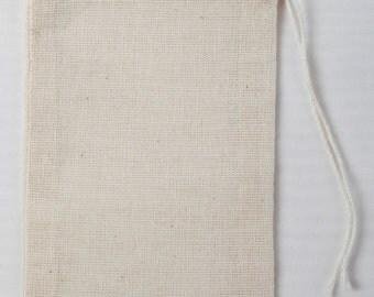 1000 3x5 Cotton Muslin Drawstring Bags