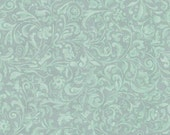 New- Mirabelle- Lost & Found and Curiosity Scroll in Dusty Teal by Quilting Treasures - Cotton Fabric- Fabric by the half yard- Sewing.