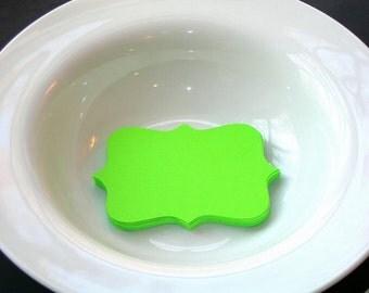 Die Cut Bracket Shapes or Labels Lime Green