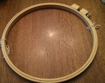 Large 13 Inch Wooden Handle Quilting Hoop Frame
