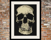 Skully Counted Cross Stitch Pattern