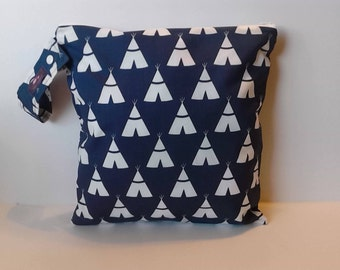 Wet Bag -Free Shipping On Second Item - Tepee Navy