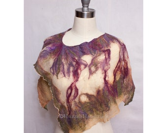 Nuno Felted Capelet Silk Gauze Art to Wear