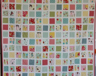 """Sweet Baby Girl Quilt measures 37""""x42.5"""" flannel back"""