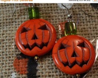 Halloween earrings, pumpkin earrings, earrings, autumn earrings, trick or treat, fun earrings, fall earring, halloween costume