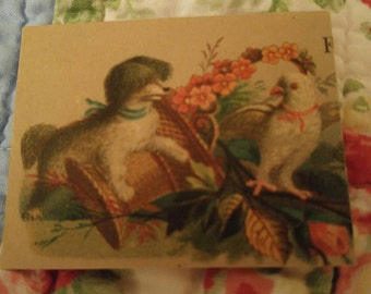Victorian advertising trade card circa 1800's mixed media collage craft Paper