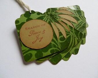 Vintage Style Christmas Gift Tags - Reindeer