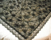 Spiderweb Scarf - Head Scarf/ Shoulder Shaw/ Table Topper - Halloween