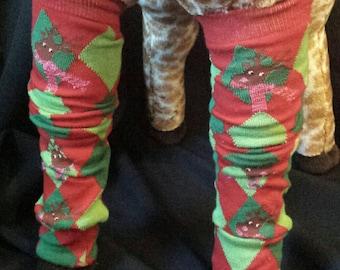 Christmas Holiday Reindeer Argyle Baby Legs