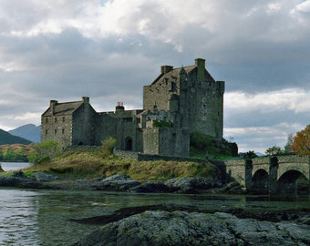 Eilean Donan Castle, Scotland Photograph, Wall Decor, Scottish Architecture, Art Print 5 x 7 Photo 8 x 10 Print Highland Castle Autumn Storm
