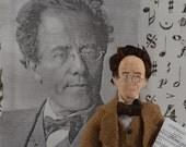 Music Composer Gustav Mahler Art Doll Miniature Classical Music