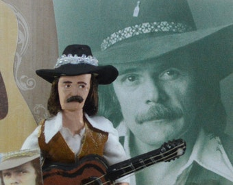 Johnny Paycheck Outlaw Country Music Star Miniature Doll