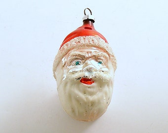 Vintage Christmas Ornament Santa Glass Ornament West Germany