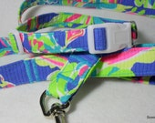 Handcrafted Lilly Pulitzer Multi Tucan Play Print Dog Collar & Leash Set